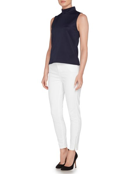 Pied a Terre Short Sleeve Roll Neck Scuba Top