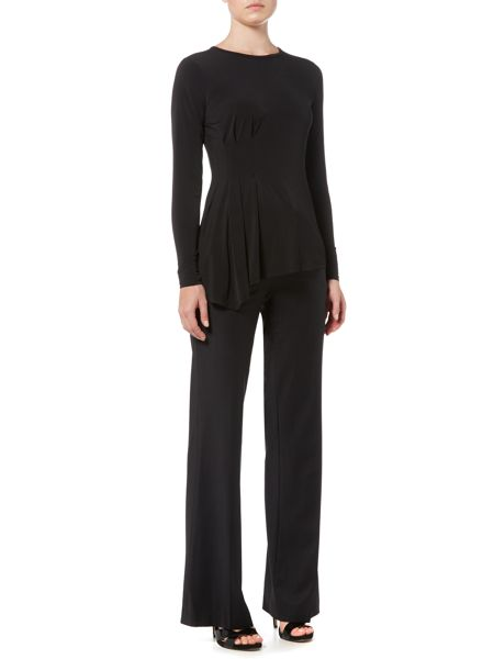 Michael Kors Long Sleeved Asymmetric Side Top