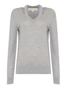 Michael Kors Slash Long Sleeve Sweater