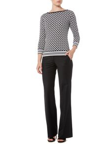 Michael Kors Long Sleeved Border Top