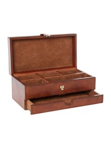 Linea Leather jewellery box
