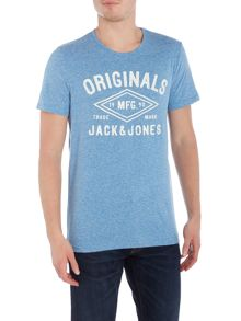 Jack & Jones Large Logo Marl Crew Neck T-shirt