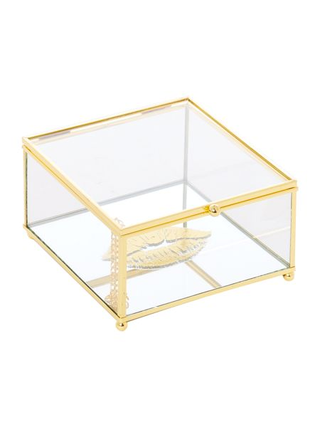 Linea Gold print trinket box