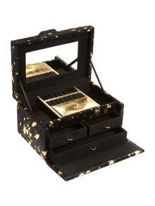 Biba Gold metallic leather jewellery box