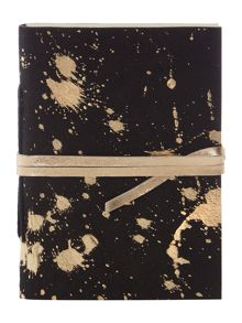 Biba Gold metallic leather notebook