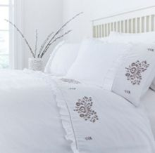 Linea Carol embroidery duvet cover set