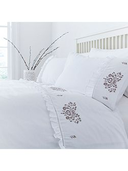 Carol embroidery duvet cover set