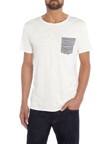 Jack & Jones Raw Stripe Pocket Crew Neck T-shirt