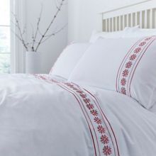 Linea Holly embroidery duvet cover set