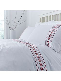 Holly embroidery duvet cover set