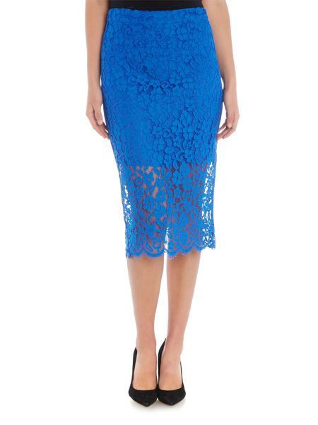 Bardot Lace Bodycon Pencil Skirt