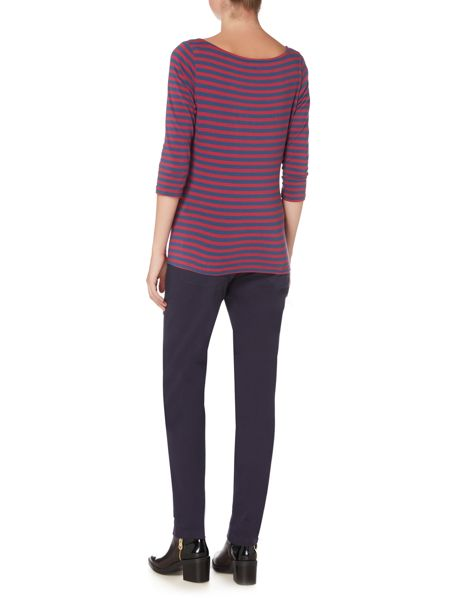 LILY & ME Striped Tee with 3/4 Sleeves