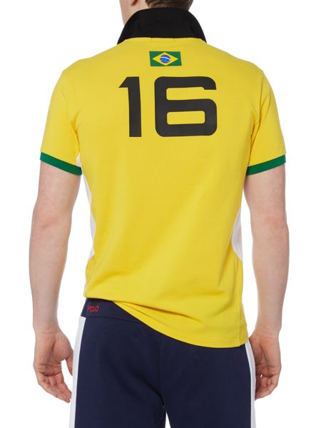 Polo Ralph Lauren Custom Fit Brasil mesh polo