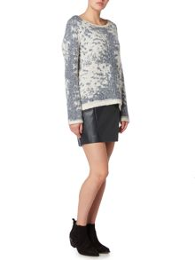 Maison De Nimes Haven Faux Leather Skirt