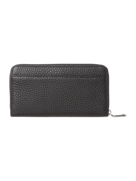 DKNY Tribeca black large zip around purse