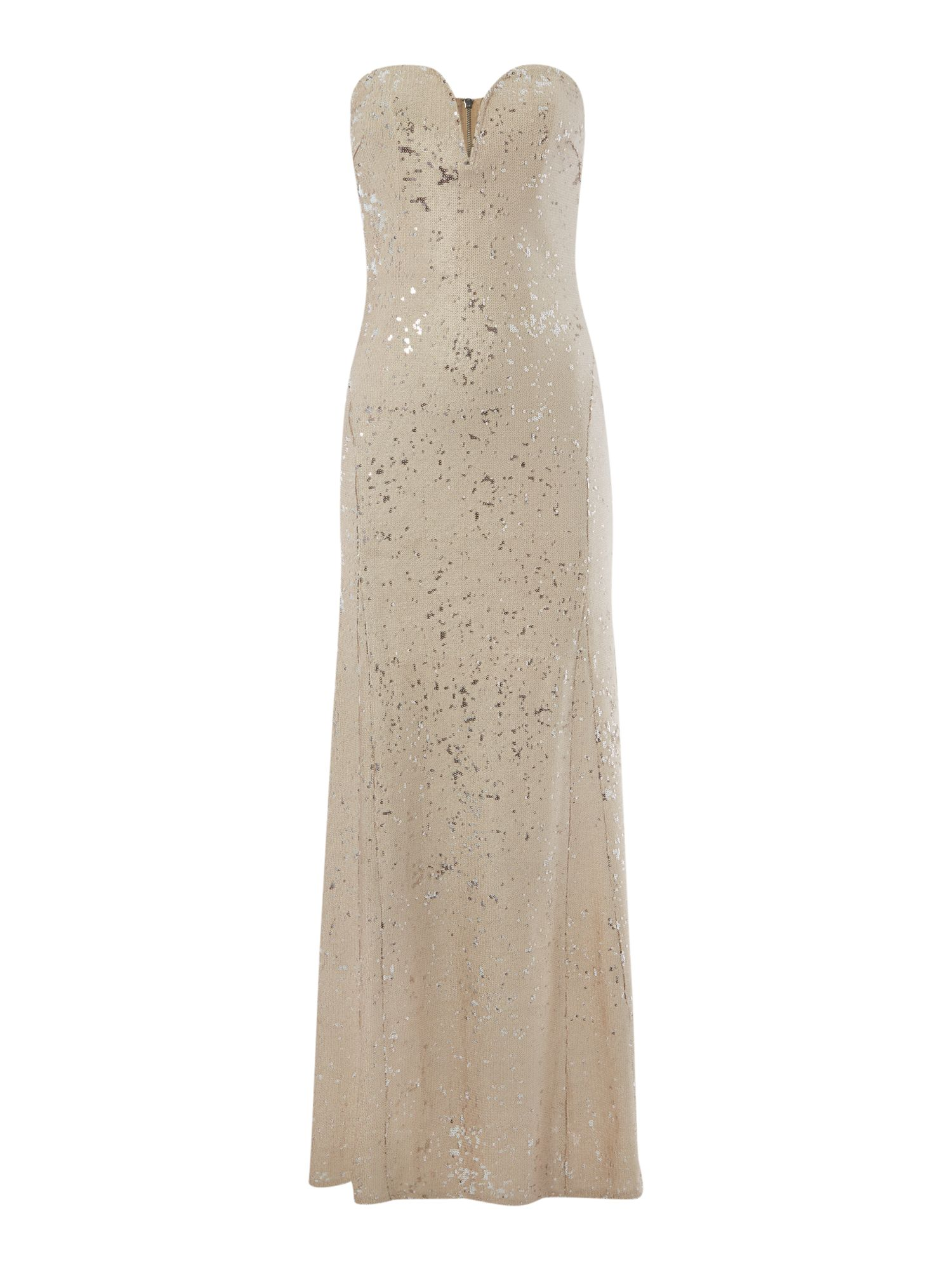 tfnc Bandeau Sequin Maxi Dress, Gold