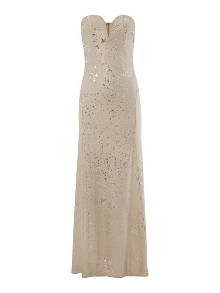 tfnc Bandeau Sequin Maxi Dress