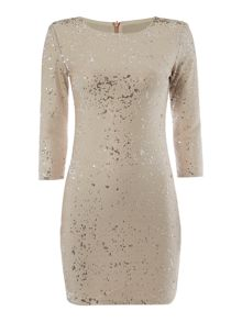 tfnc 3/4 Sleeve Sequin Bodycon Dress