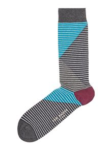 Ted Baker Cooper Colour Black Stripe sock