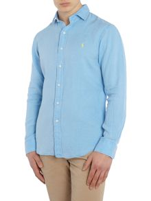 Polo Ralph Lauren Long sleeve slim fit linen shirt