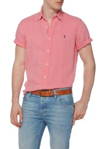 Polo Ralph Lauren Custom Fit Short Sleeve Linen Shirt