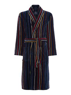 Multistripe Towelling Dressing Gown