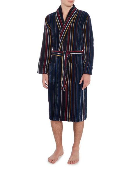 Howick Multistripe Towelling Dressing Gown