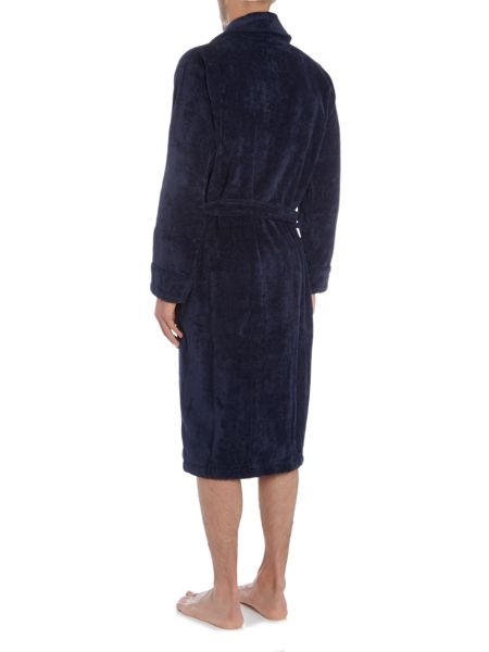 Howick Classic Navy Towelling Dressing Gown