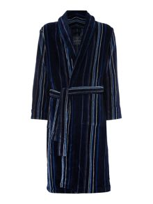 Howick Blue StripeTowelling Dressing Gown