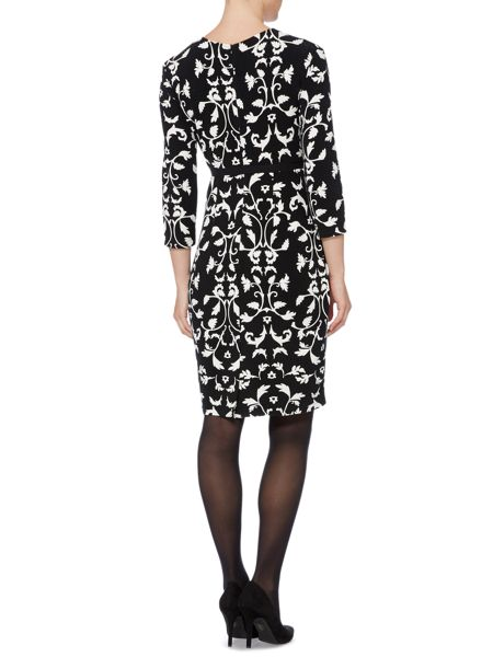 Max Mara Estermo floral printed dress with belt