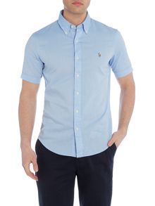 Polo Ralph Lauren Short sleeve slim fit oxford chambray shirt