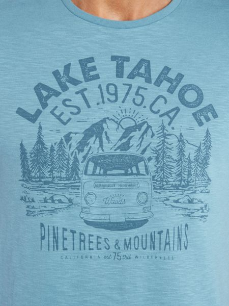 Criminal Flynn Lake Tahoe Camp Graphic Tshirt
