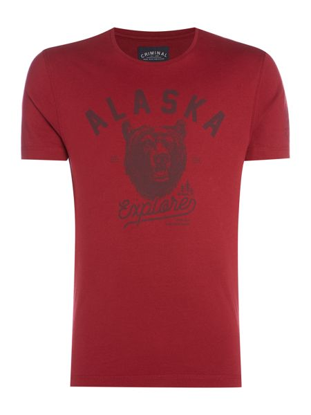 Criminal Alaska Bear Graphic Tshirt