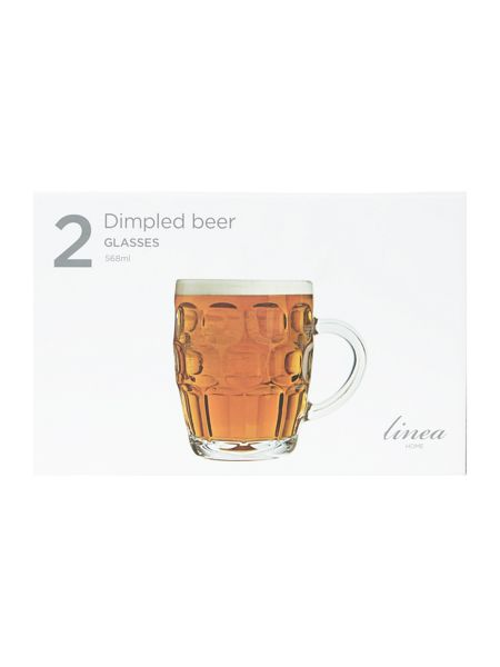 Linea Dimpled beer glass set of 2