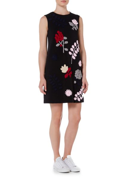 Sportmax Code Argento sleeveless embroidered ribbed dress