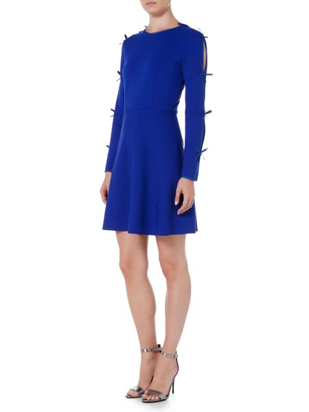 Sportmax Code Argenta long sleeve ribbon detail dress