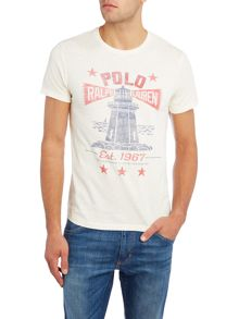 Polo Ralph Lauren Lighthouse graphic crew neck tshirt