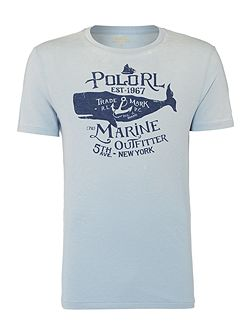 Polo marine graphic crew neck tshirt