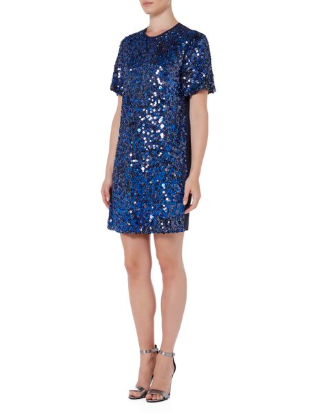 Sportmax Code Bye cap sleeve sequin shift dress