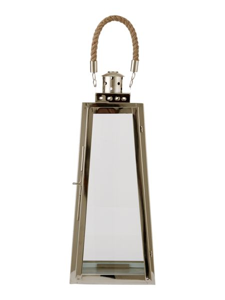 Linea Tall metal lanterns with rope handle, small