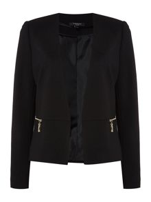 Therapy Maya Cropped Ponte Jacket