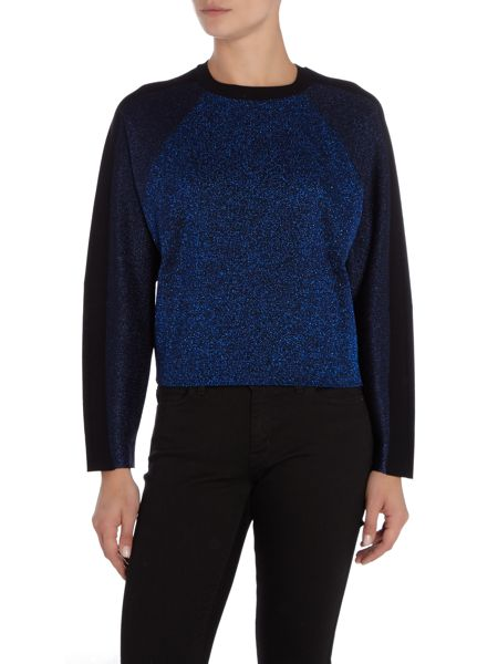 Sportmax Code Rosi long sleeve metallic colour block jumper