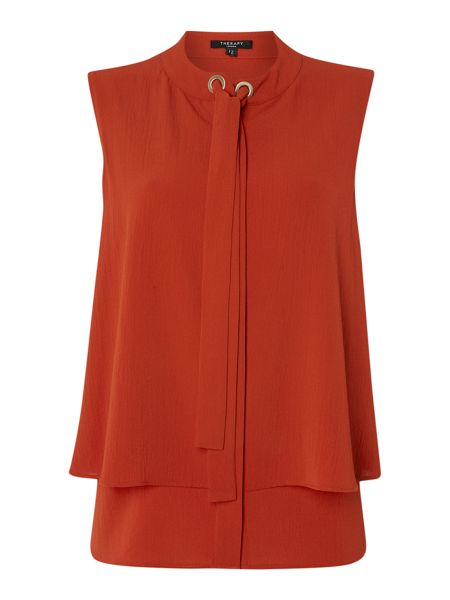 Therapy Isla Pussybow Sleeveless Top