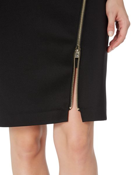 Therapy Frankie Zip Detail Scuba Dress