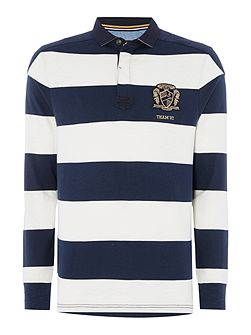 Shanly Block Stripe Long Sleeve Rugby Shirt