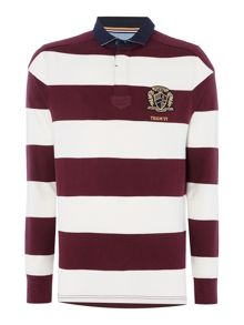 Howick Shanly Block Stripe Long Sleeve Rugby Shirt