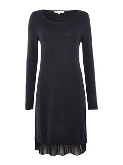 Mina pleat hem jumper dress