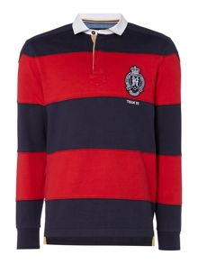 Howick Columbia Cut & Sew Stripe Long Sleeve Rugby Shirt