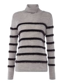 Therapy Lexi Fluff Stripe Knit Jumper