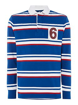 Active Stripe Long Sleeve Rugby Shirt